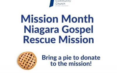Mission Month – Niagara Gospel Rescue Mission